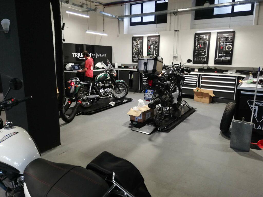 Motorrad- und Zubehörgeschäft, Italien